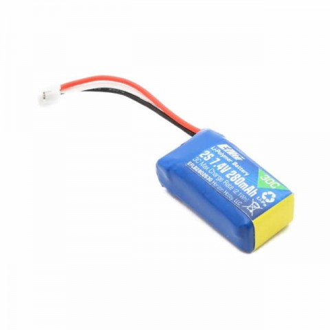 E-flite 280mAh 2S 7.4V 30C LiPo Battery - EFLB2802S30