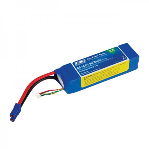 E-flite 5000mAh 4S 14.8V 30C 10AWG LiPo Battery with EC5 Connector - EFLB50004S30