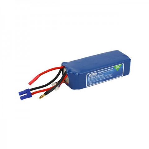 E-flite 5000mAh 6S 22.2V 30C LiPo Battery with EC5 Connector - EFLB50006S30