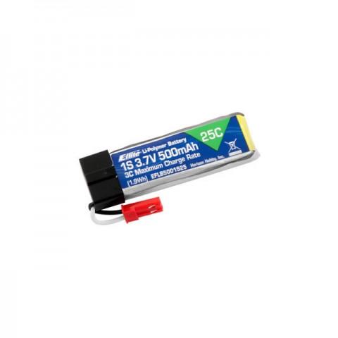 E-flite 500mAh 1S 3.7V 25C LiPo Battery for Blade 120SR and mQX - EFLB5001S25