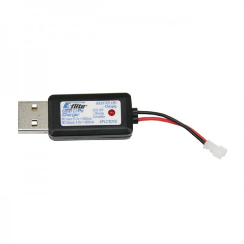 E-flite 1S 300mAh USB LiPo Battery Charger - EFLC1015