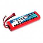 nVision Sport 7.4v 45C 2S 3700mAh LiPo Battery with Deans Connector - NVO1110