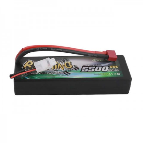 Gens Ace 5500mAh 7.4V 50C 2S1P Hardcase LiPo Battery with Deans Connector - GC2S5500-50T