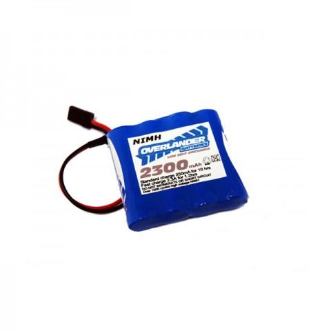 Overlander Premium Sport Flat 4.8v 2300mAh NiMh AA Receiver Battery Pack LSD - OL-2380