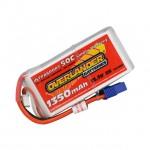 Overlander 1350mAh 3S 11.1v 50C LiPo Upgrade Battery for 300X Heli and Super Cub LP Plane - OL-2536