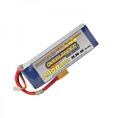 Overlander Supersport 2900mAh 3S 11.1v 35C LiPo Battery with XT60 Connector - OL-2701