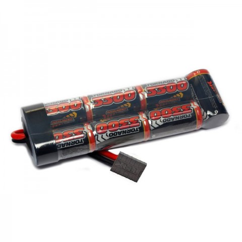 Overlander NiMh Battery Pack SubC 3300mah 8.4v Premium Sport with Traxxas Connector - OL-2719TRX