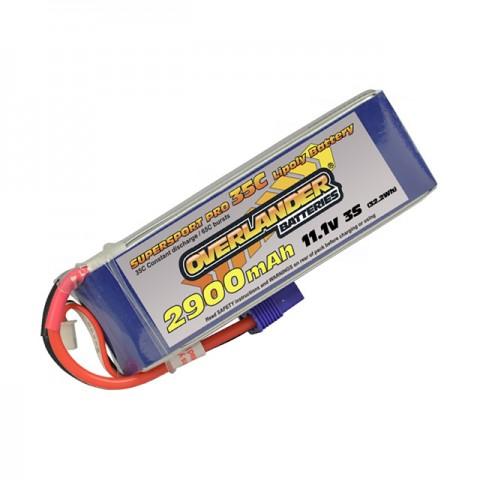 Overlander Supersport 2900mAh 3S 11.1v 35C LiPo Battery with EC3 Connector - OL-2776