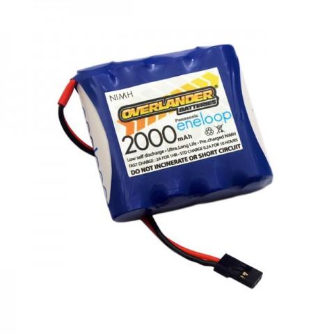 Overlander Panasonic Eneloop 2000mAh AA 4.8v NiMh Receiver RX Flat Battery - OL-2866