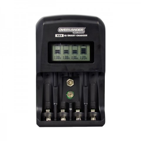 Overlander NX4 IQ Smart Charger for NiMh/NiCd AA, AAA and 9V Batteries - OL-2928