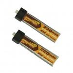 Overlander 220mAh 1S 3.7v 45C LiPo Battery Upgrade for Blade Inductrix (Pack of 2) - OL-3174