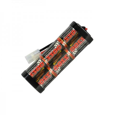 Overlander 3300mah 7.2v NiMh Battery Pack SubC for RC Car, Boat, Bike Battery with Tamiya Plug - OL-2588