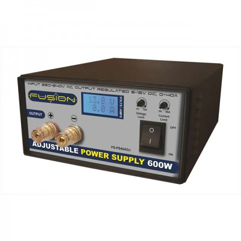 Fusion 600W Adjustable 40A AC Power Supply Unit - PS600ADJ