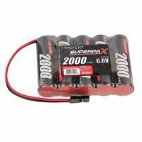 Radient 6V 2000mAh AA NiMh SBS-Flat Receiver Battery Pack - RDNA0200