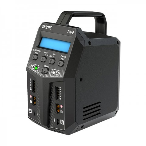 Sky RC T200 AC/DC 12A Dual Balance Charger/Discharger for LiPo, LiFe, LiHV and NiMh Batteries - SK-100155