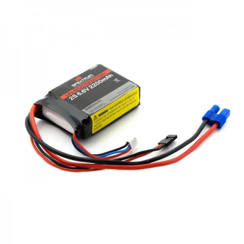 Spektrum 6.6v 2200mAh 2S LiFe Receiver Battery - SPMB2200LFRX