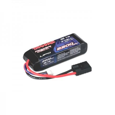 Traxxas Power Cell 7.4V 2200mAh 25C 2S LiPo Battery Ideal for 1/16 Scale Models - TRX2820