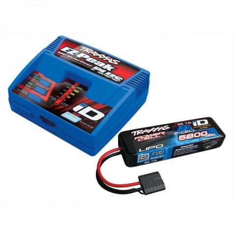 Traxxas EZ-Peak Plus 4A LiPo/NiMh ID Charger and 2843X 2S 7.4v 5800mAh LiPo Battery - TRX2970T-2S58
