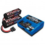 Traxxas EZ-Peak Live LiPo, NiMh Battery Charger Combo with 2 x 14.8v 6700mAh 4S Li-Po Batteries - TRX2993T