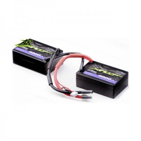 Ansmann Racing 7.4V 4000mAh 30C 2S LiPo Saddle Battery Pack - 167000115