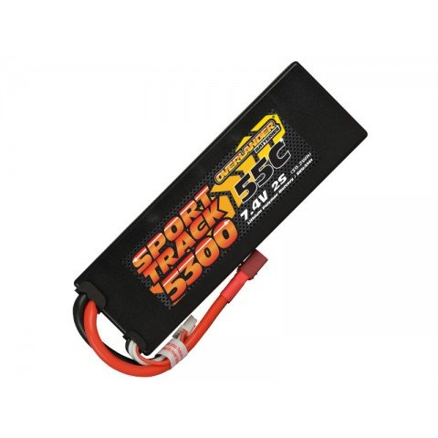 Overlander Sport Track 7.4v 2S 5300mAh LiPo 55C Battery with Deans Connector - OL-3141