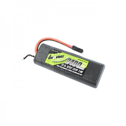 Bionic Hard Case 2400mAh 7.4V 30C LiPo Battery with Traxxas Connector Fitted - BCS30-2400-0201TR