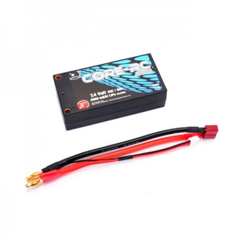 Core RC 4000mAh 7.4v 30C 2S Shorty LiPo Hardcase Battery Pack - CR294