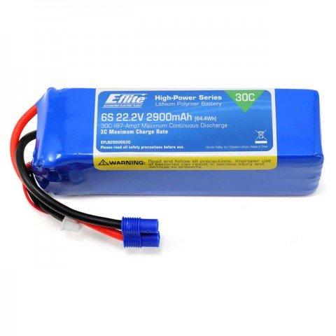 E-flite 2900mAh 6S 22.2v 30C LiPo Battery with EC3 Connector - EFLB29006S30