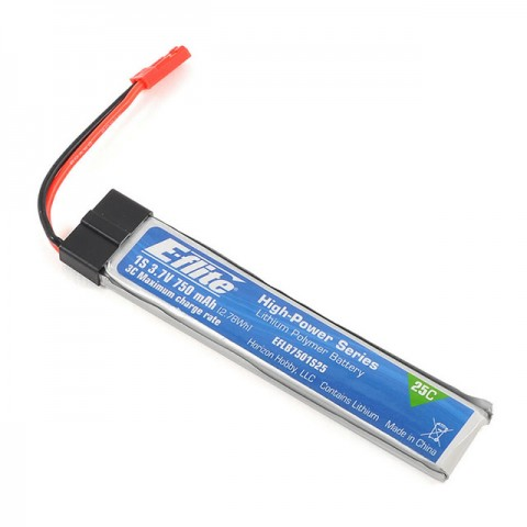 E-flite 1S 25C 3.7V 750mAh LiPo Battery Pack for Zeyrok Drone Quadcopter - EFLB7501S25