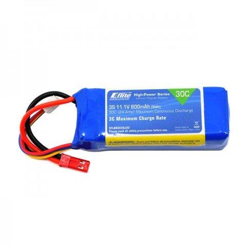 E-flite 800mAh 30C 11.1V 3S LiPo Battery Pack - EFLB8003SJ30