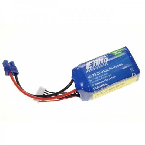E-Flite 6S 22.2V 910mAh 30C Flight LiPo Battery for the Blade 270 CFX - EFLB9106S30