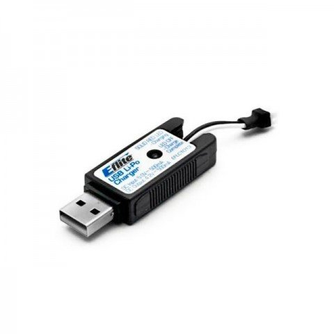 E-flite USB LiPo Charger 1S 3.7v 500mA with UMX Connector - EFLC1013