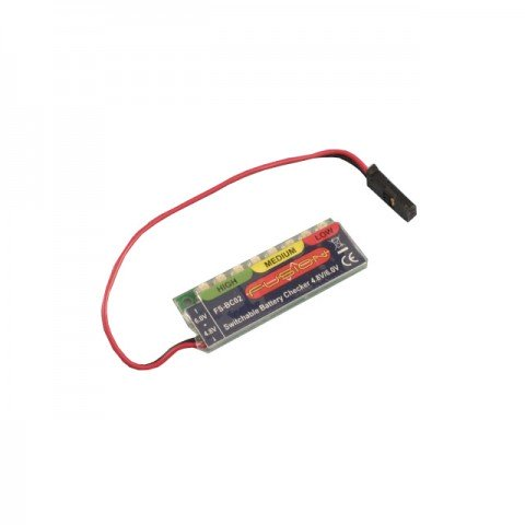 Fusion Battery Checker 4.8V and 6V NiCd or NiMh Compatible Voltage Indicator - FS-BC02