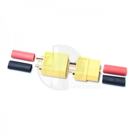 Logic RC XT60 Battery Connector Set with Heat Shrink (2 pairs) - FS-XT60/2