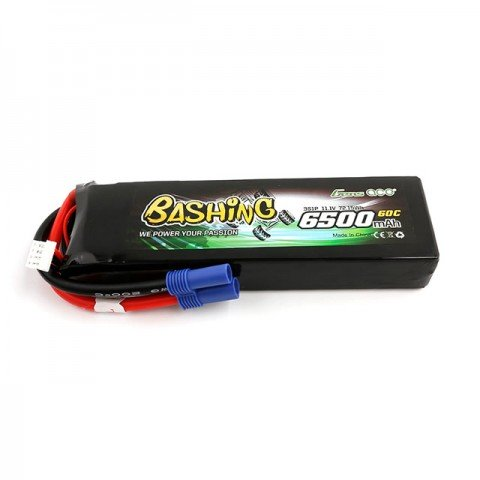 Gens Ace 6500mAh 11.1V 60C 3S1P LiPo Battery with EC5 Connector - GC3S6500-60E5