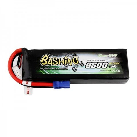 Gens Ace 8500mAh 11.1v 50C 3S1P LiPo Battery with EC5 Connector - GC3S8500-50E5