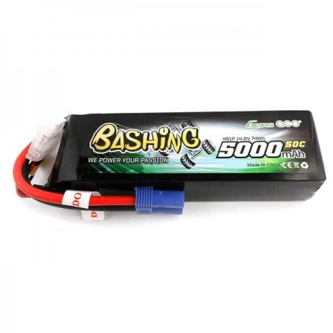 Gens Ace 5000mAh 14.8V 50C 4S1P LiPo Battery with EC5 Connector - GC4S5000-50E5