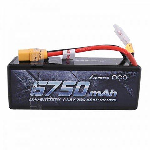 Gens Ace 6750mAh 14.8V 70C 4S1P Hardcase LiPo Battery XT-90 Connector - GC4S6750-70