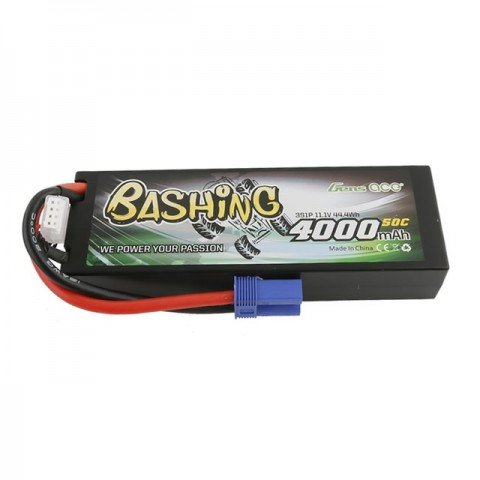 Gens Ace 11.1v 50C 4000mAh 3S Hardcase LiPo Battery with EC5 Connector - GE3-4000-3C5