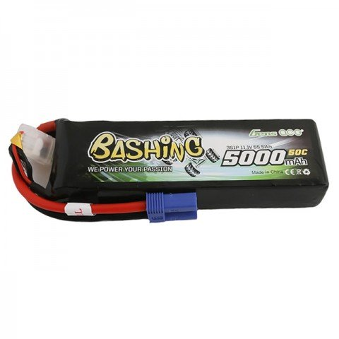 Gens Ace 5000mAh 11.1V 50C 3S1P LiPo Battery with EC5 Connector - GC3S5000-50