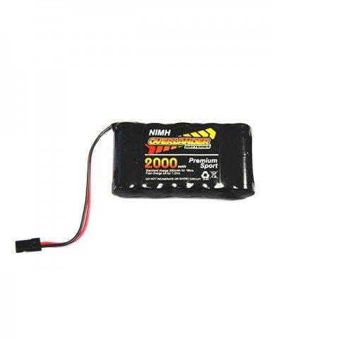 Overlander Premium Sport 6V 2000mAh NiMh RX Flat Battery Pack 4/5 AF - OL-1756
