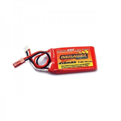 Overlander Extreme 450mAh 2S 7.4v 40C LiPo Upgrade Battery for the Blade 130X - OL-2506