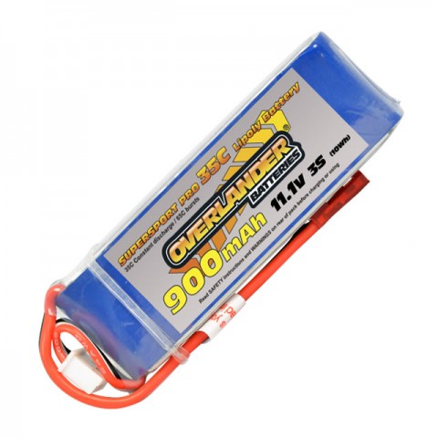 Overlander Supersport Pro 900mAh 3S 11.1v 35C LiPo Battery - OL-2559