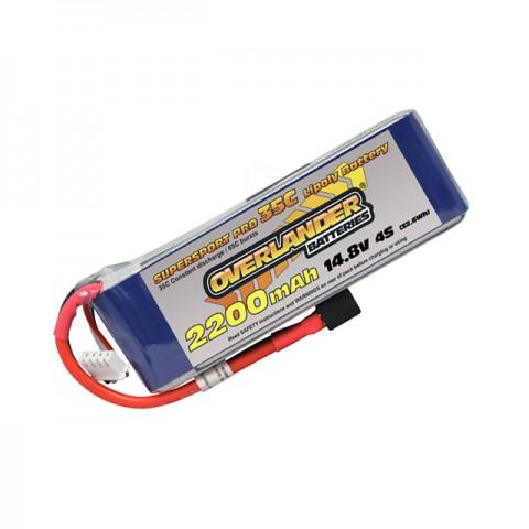 Overlander Supersport 4S 2200mAh 14.8v 35C LiPo Battery - OL-2568