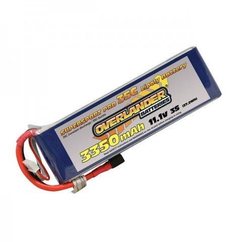 Overlander Supersport 3350mAh 3S 11.1v 35C LiPo Battery with Deans Connector - OL-2570