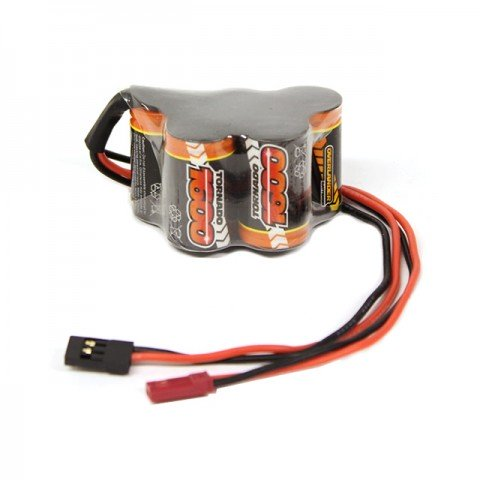 Overlander 6v 1600mAh NiMh Hump Receiver Battery Pack with BEC and Futaba Connectors - OL-2620