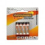 Overlander AAA Ultra-Long Life Premium 4 Pack Alkaline Batteries (LR03) - OL-2672