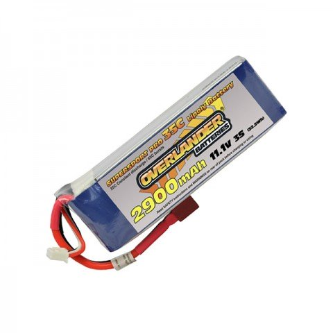 Overlander Supersport 2900mAh 3S 11.1v 35C LiPo Battery with Deans Connector - OL-2804