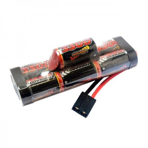 Overlander NiMh Hump Battery Pack SubC 3300mah 8.4v Premium Sport with Traxxas Connector - OL-2840
