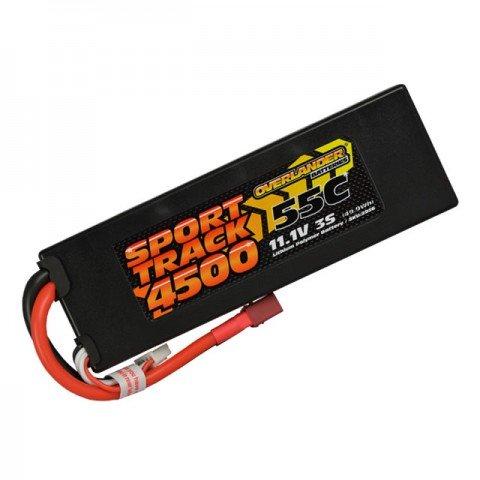 Overlander Sport Track 4500mAh 3S 11.1v 55C LiPo Battery in Hard Case with Deans Connector - OL-2956